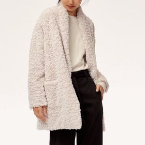 Aritzia Wilfred Plush Jacket Small